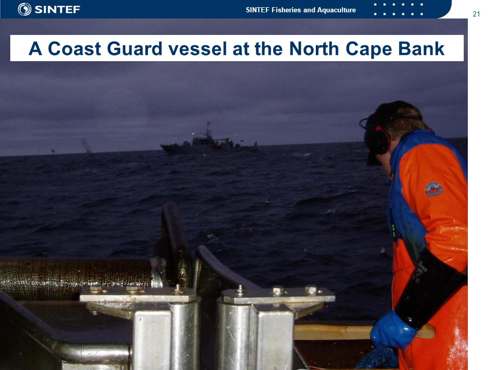 A Coast Guard vessel at the North Cape Bank
