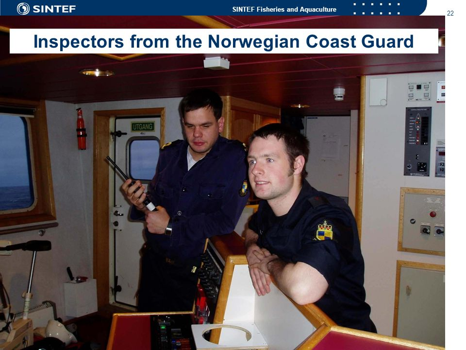 Inspectors from the Norwegian Coast Guard