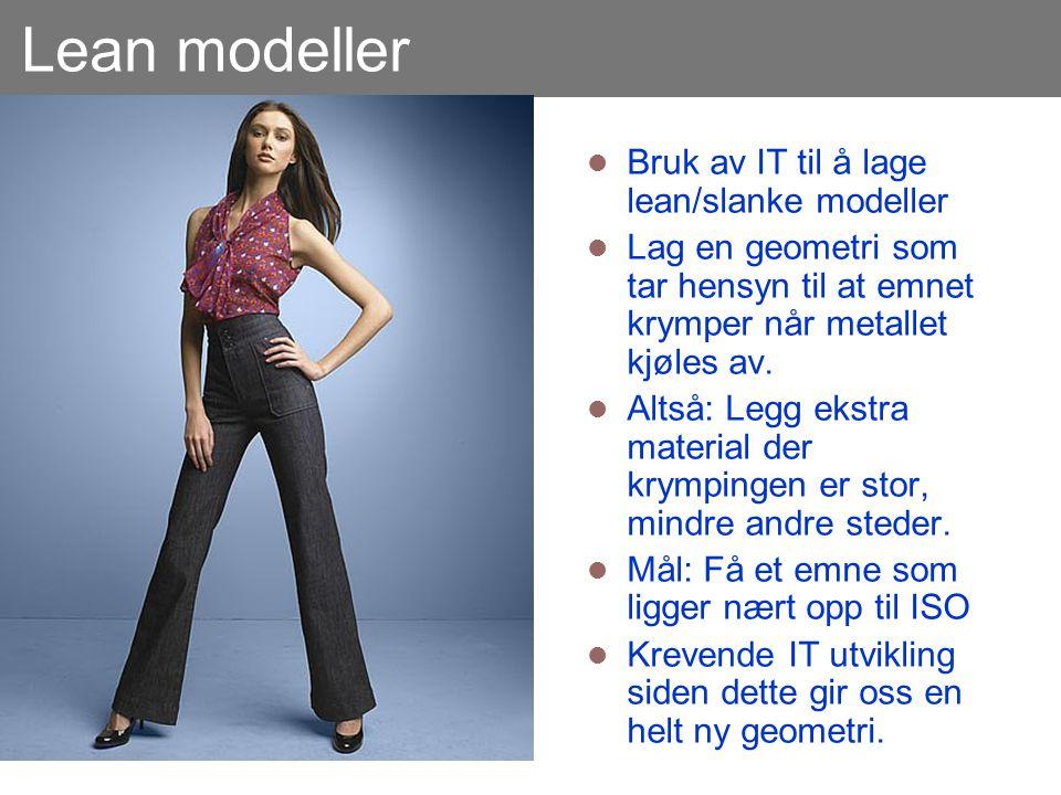 Lean modeller Bruk av IT til å lage lean/slanke modeller