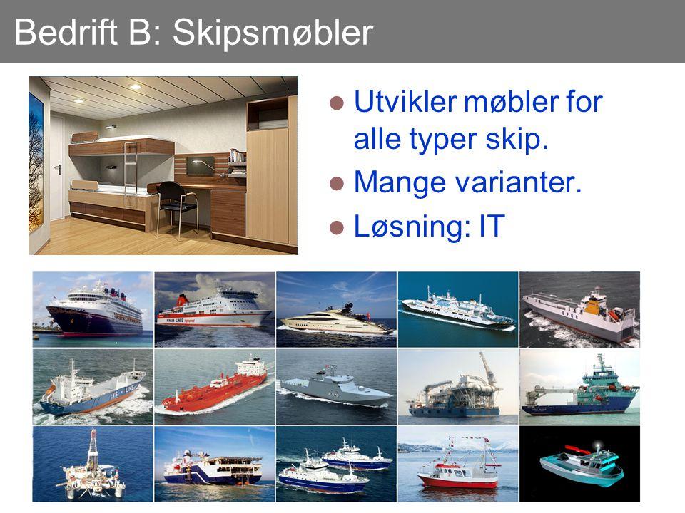 Bedrift B: Skipsmøbler