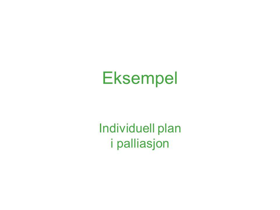 Individuell plan i palliasjon