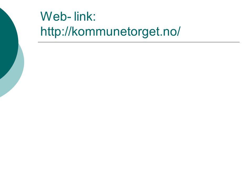 Web- link: http://kommunetorget.no/