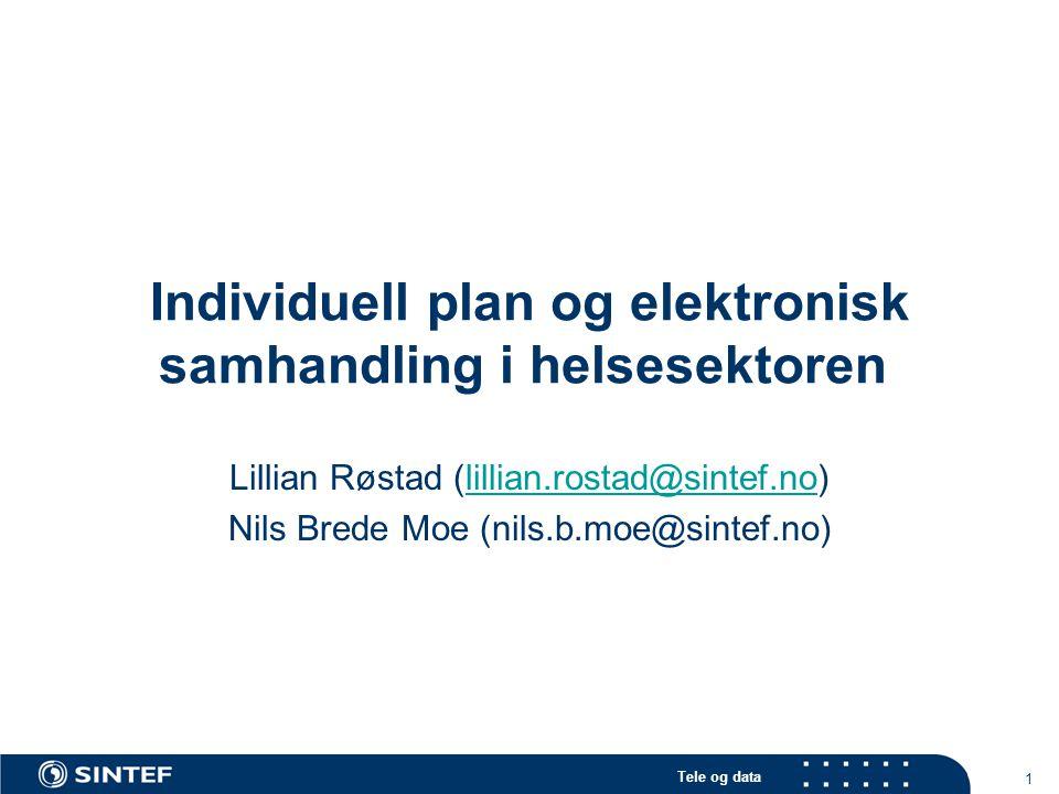 Individuell plan og elektronisk samhandling i helsesektoren