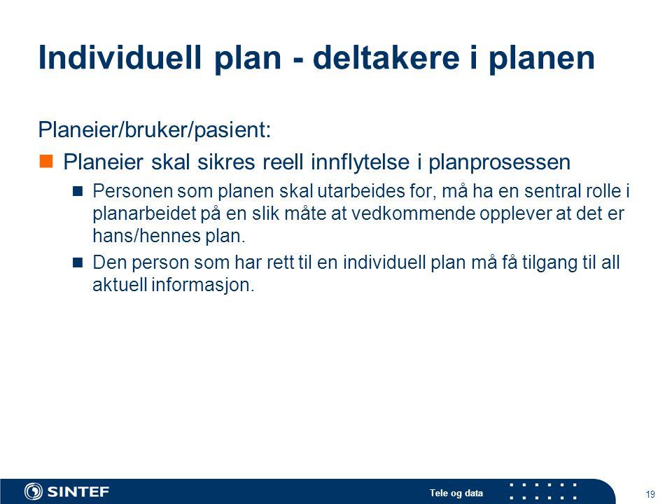 Individuell plan - deltakere i planen