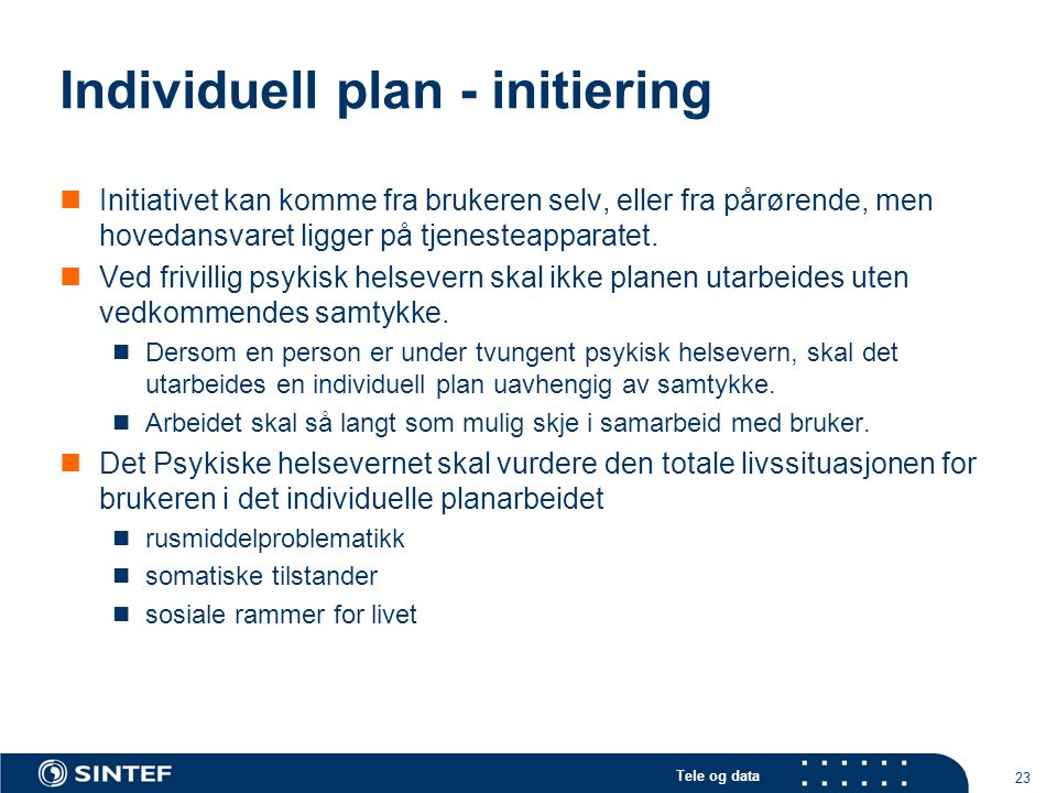 Individuell plan - initiering