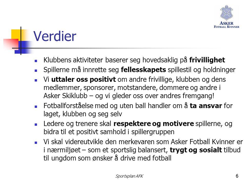 Verdier Klubbens aktiviteter baserer seg hovedsaklig på frivillighet