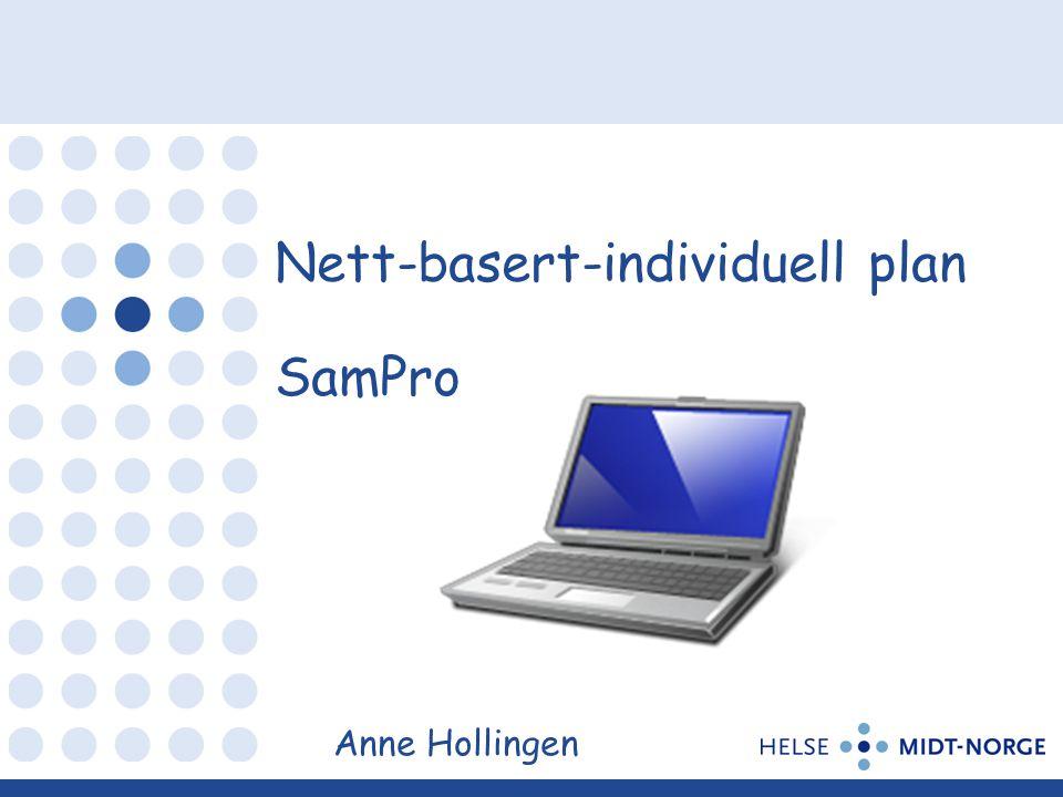 Nett-basert-individuell plan SamPro