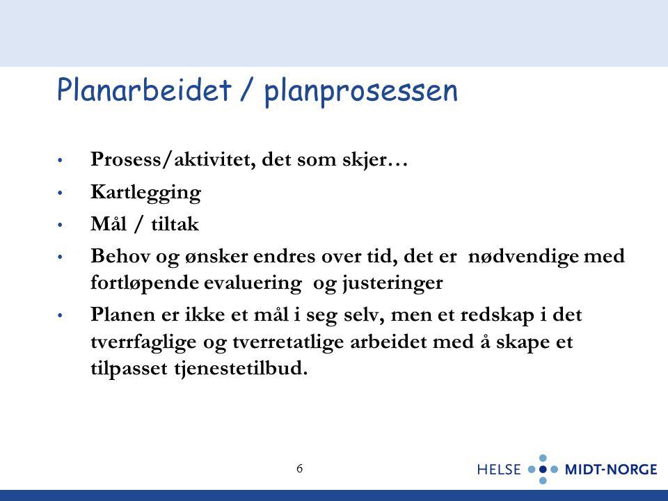 Planarbeidet / planprosessen