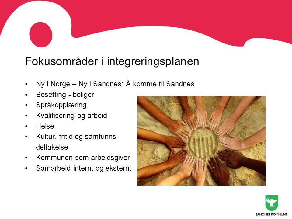 Fokusområder i integreringsplanen