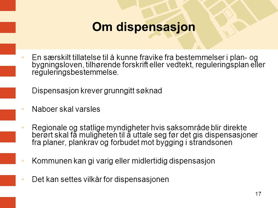Om dispensasjon