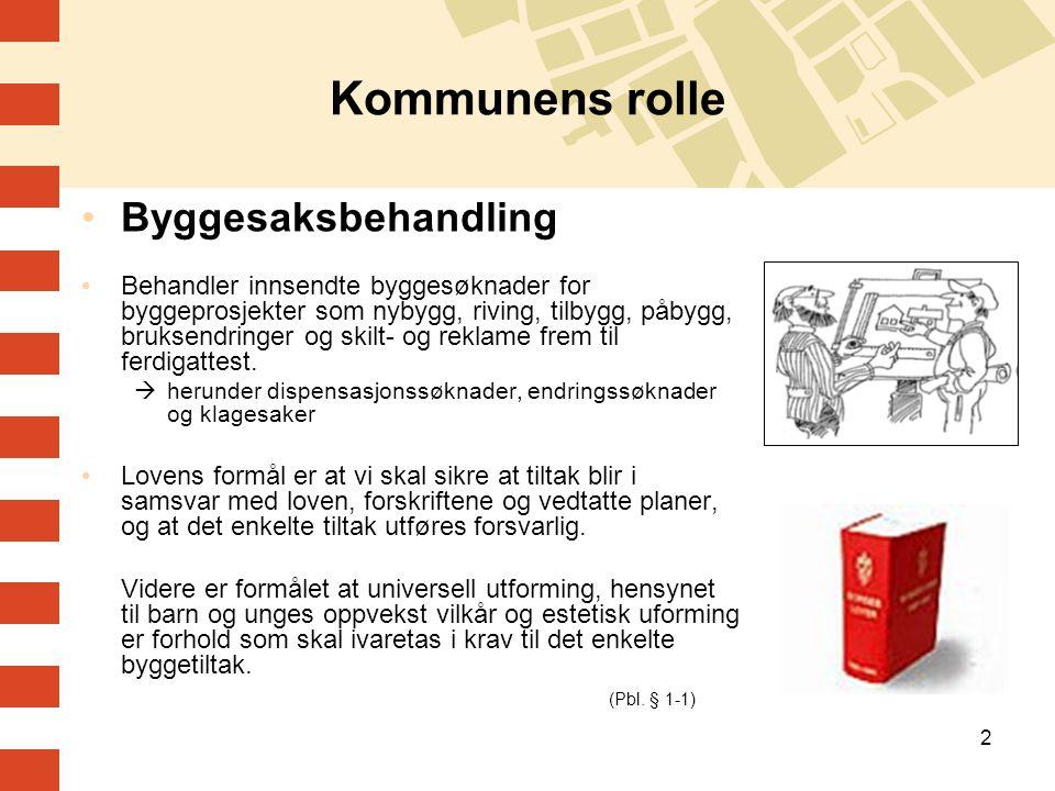 Kommunens rolle Byggesaksbehandling