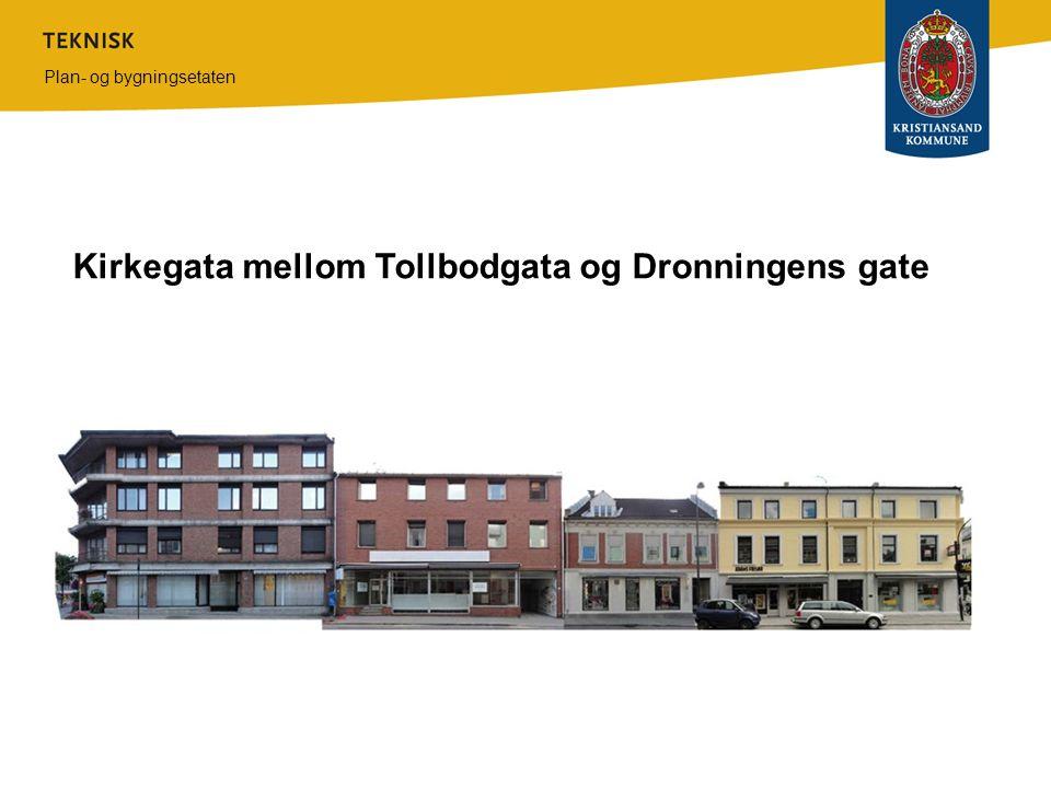 Kirkegata mellom Tollbodgata og Dronningens gate