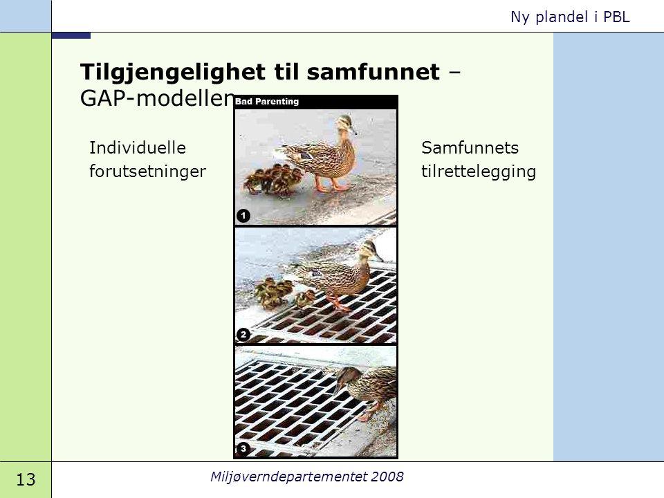 Tilgjengelighet til samfunnet – GAP-modellen