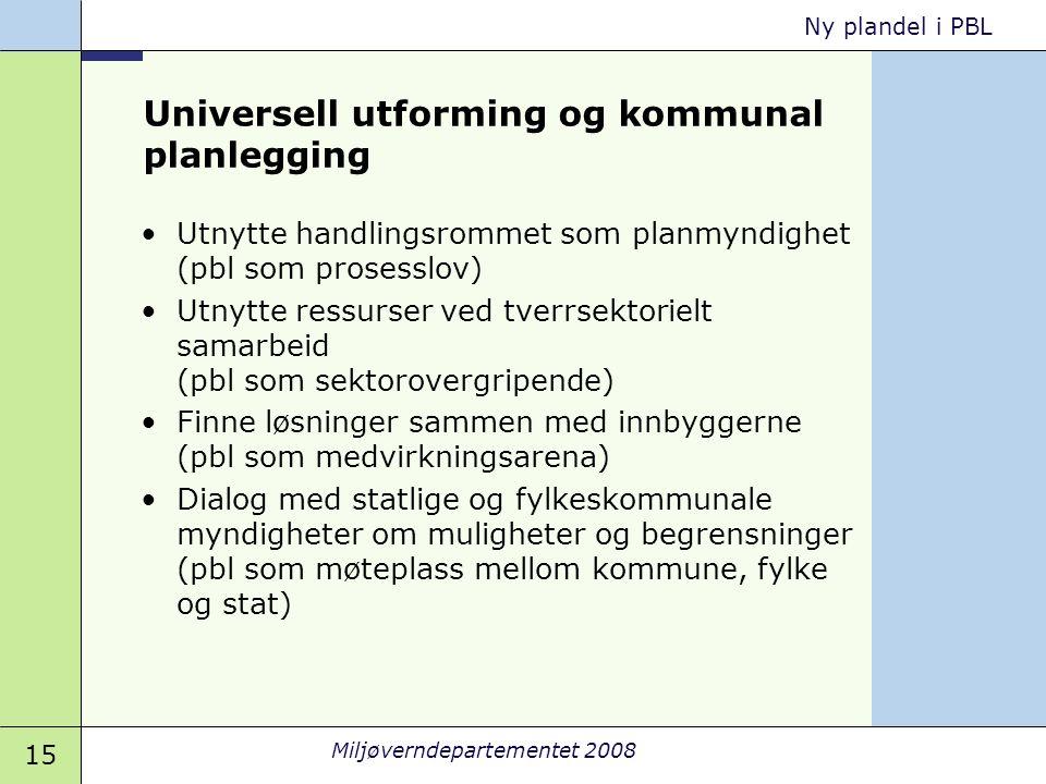 Universell utforming og kommunal planlegging