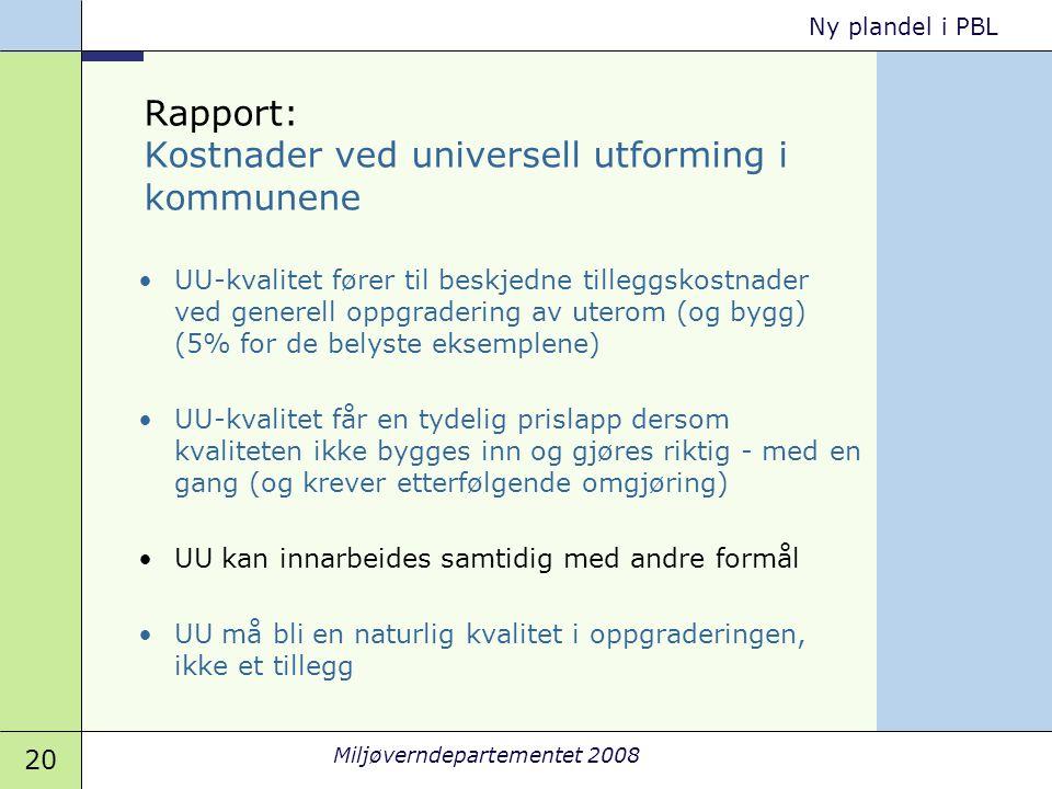 Rapport: Kostnader ved universell utforming i kommunene