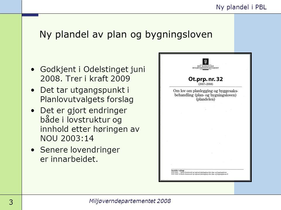 Ny plandel av plan og bygningsloven