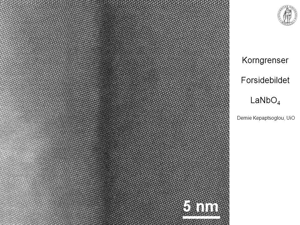 Korngrenser Forsidebildet LaNbO4 Demie Kepaptsoglou, UiO