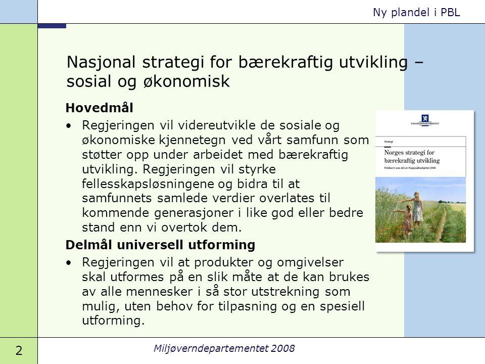 Nasjonal strategi for bærekraftig utvikling – sosial og økonomisk