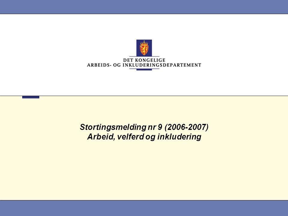Stortingsmelding nr 9 (2006-2007) Arbeid, velferd og inkludering