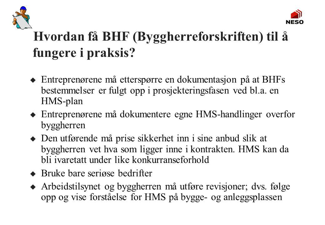 Hvordan få BHF (Byggherreforskriften) til å fungere i praksis