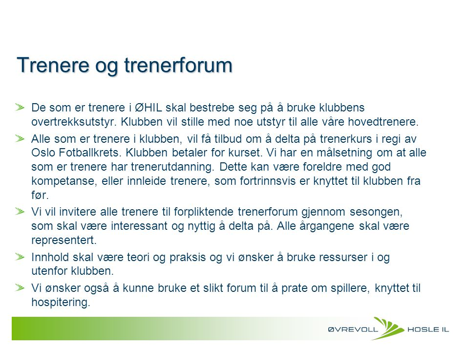Trenere og trenerforum