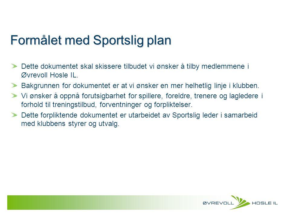 Formålet med Sportslig plan