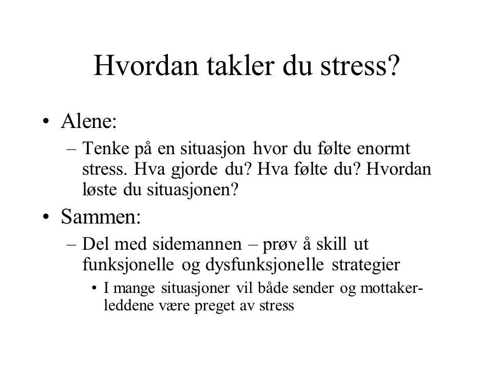 Hvordan takler du stress