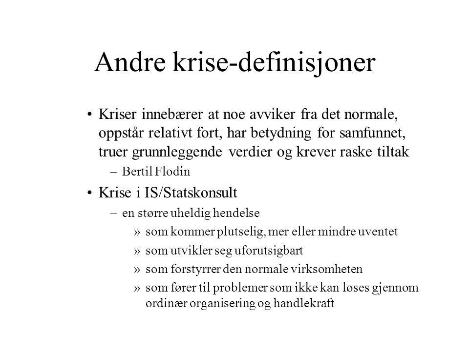Andre krise-definisjoner