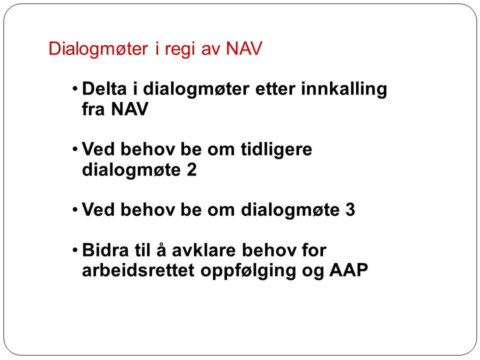 Dialogmøter i regi av NAV