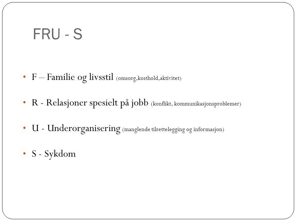 FRU - S F – Familie og livsstil (omsorg,kosthold,aktivitet)