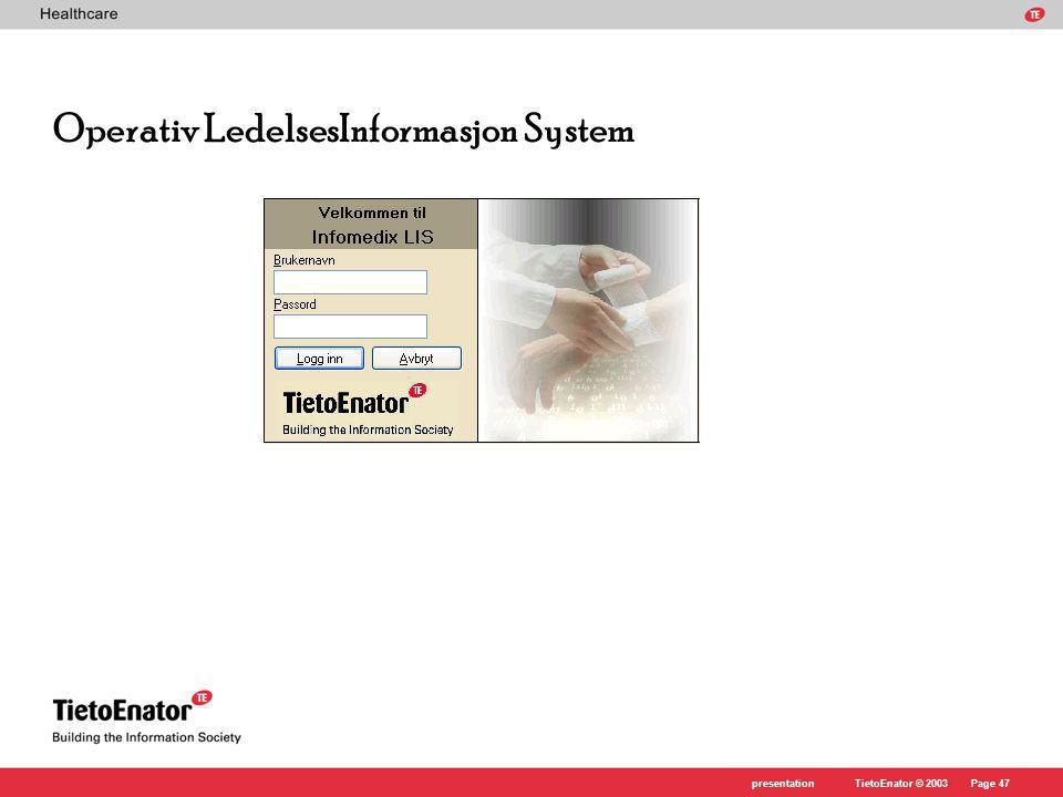 Operativ LedelsesInformasjon System