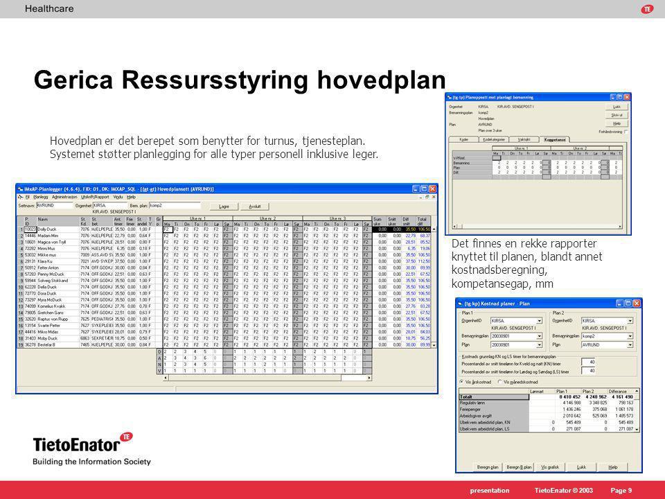 Gerica Ressursstyring hovedplan