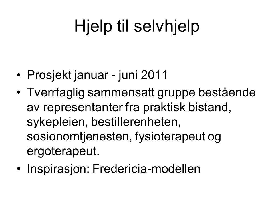 Hjelp til selvhjelp Prosjekt januar - juni 2011