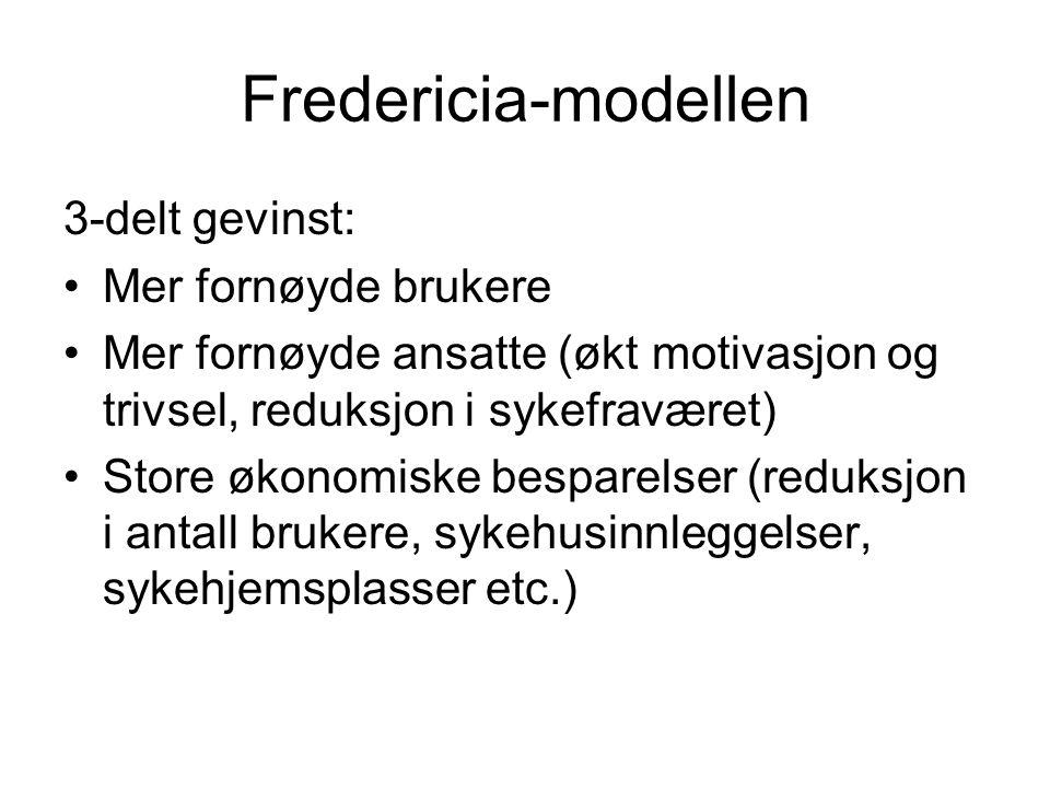 Fredericia-modellen 3-delt gevinst: Mer fornøyde brukere