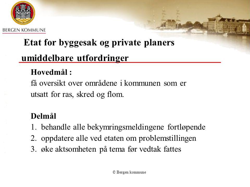 Etat for byggesak og private planers umiddelbare utfordringer