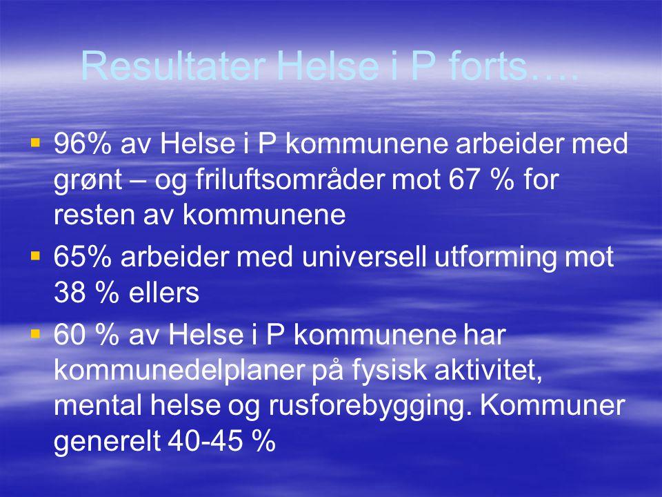 Resultater Helse i P forts….