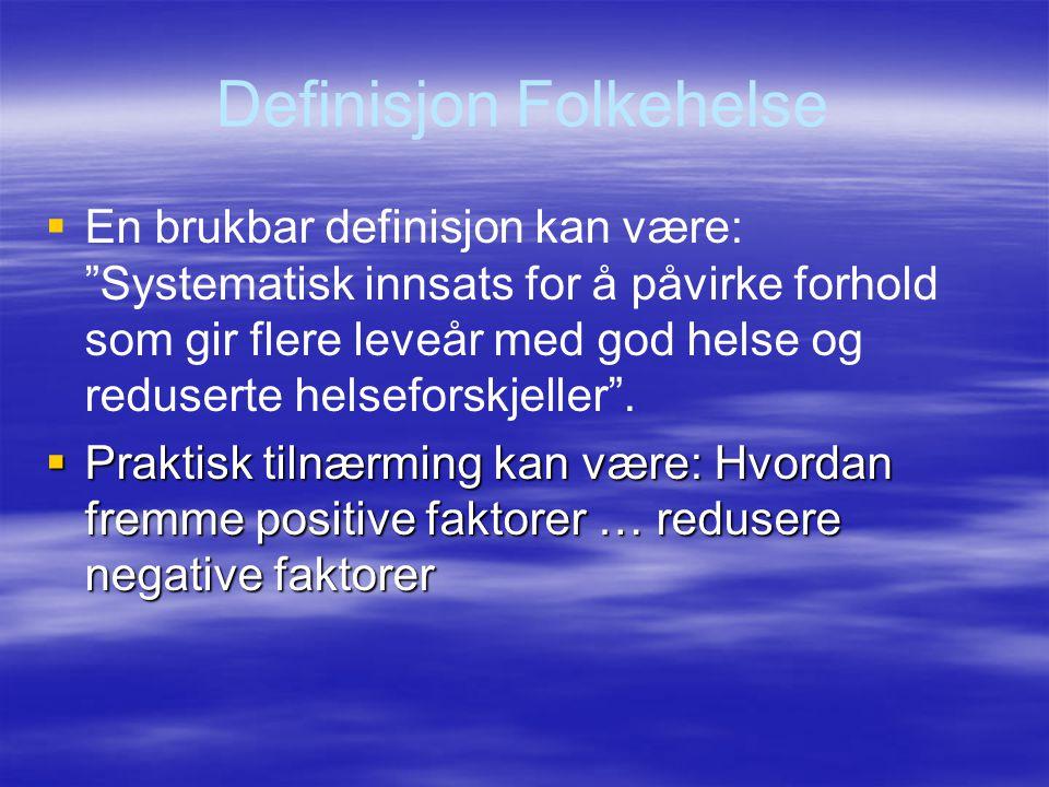 Definisjon Folkehelse