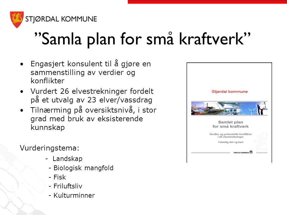 Samla plan for små kraftverk