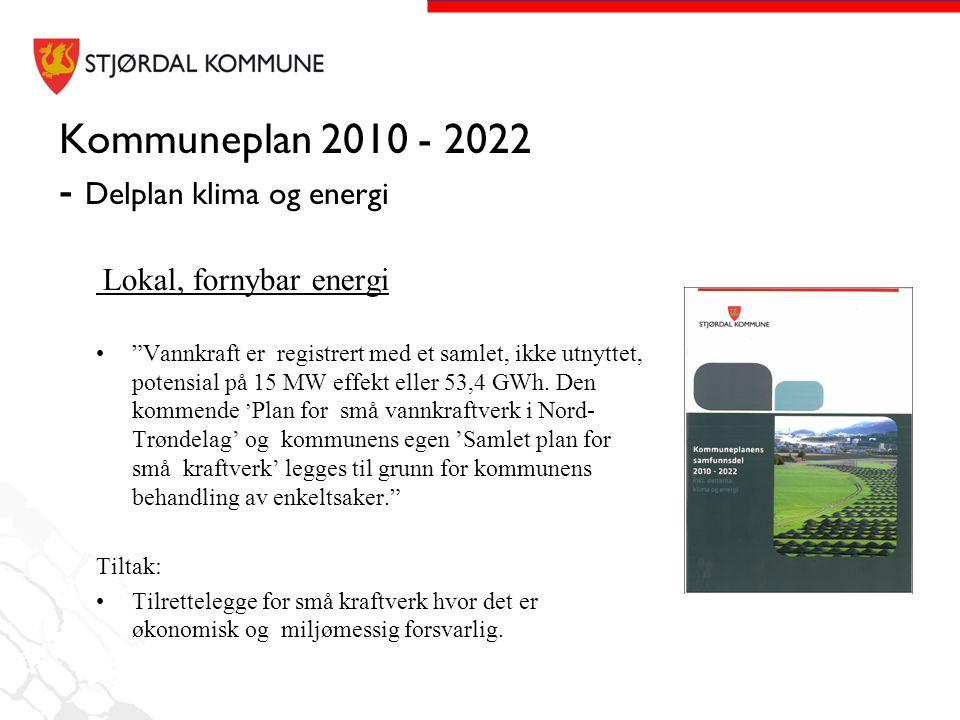 Kommuneplan 2010 - 2022 - Delplan klima og energi