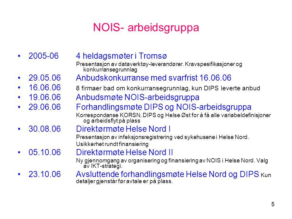 NOIS- arbeidsgruppa 2005-06 4 heldagsmøter i Tromsø