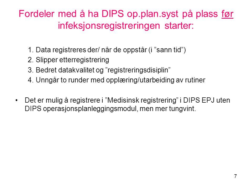 Fordeler med å ha DIPS op. plan