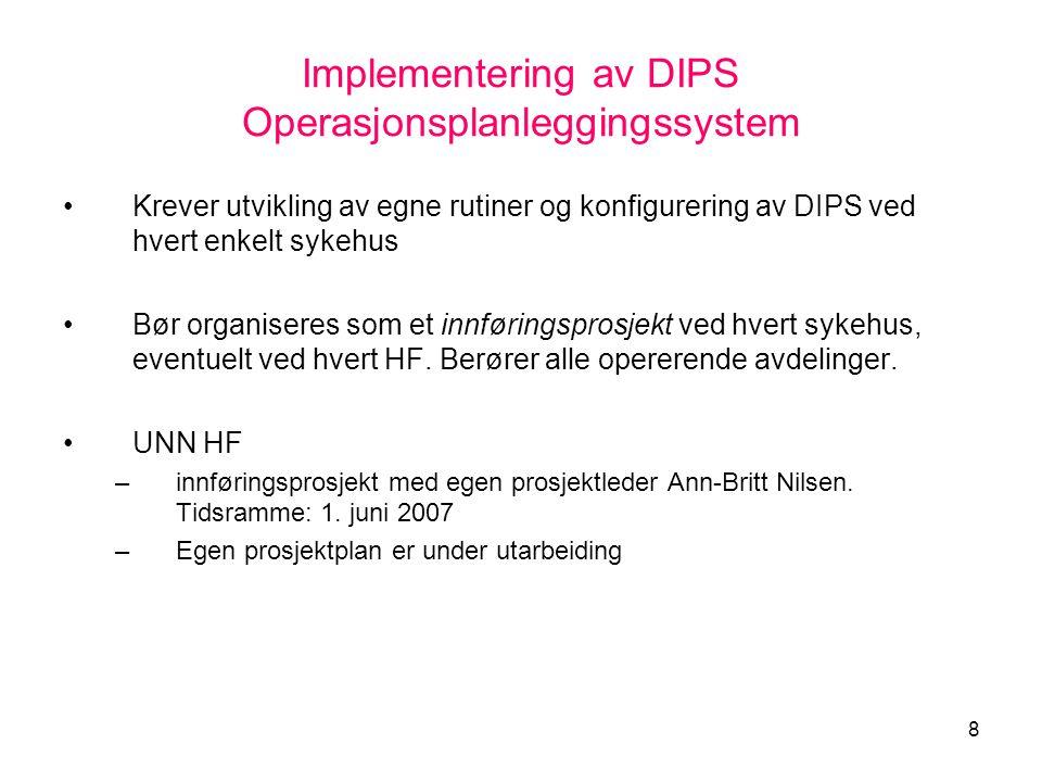 Implementering av DIPS Operasjonsplanleggingssystem