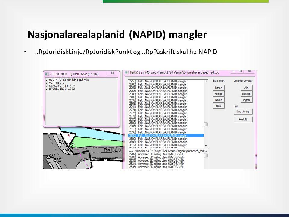 Nasjonalarealaplanid (NAPID) mangler