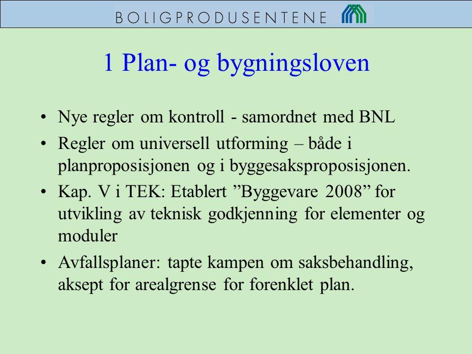 1 Plan- og bygningsloven