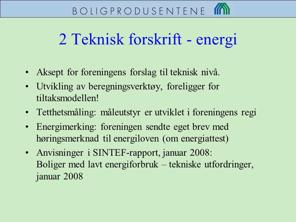 2 Teknisk forskrift - energi