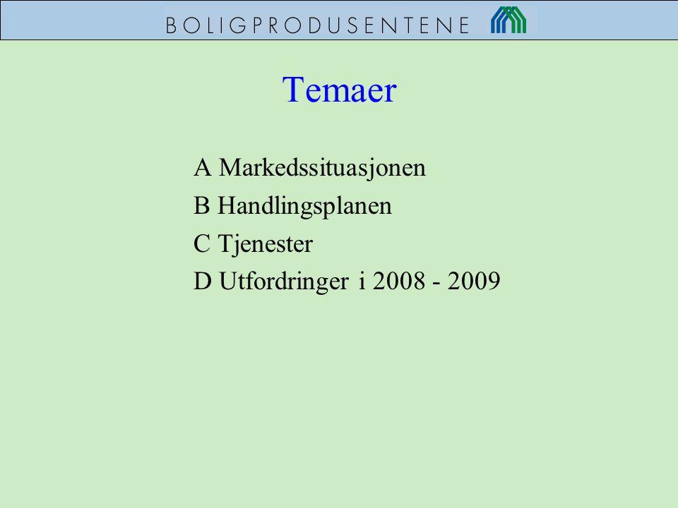 Temaer A Markedssituasjonen B Handlingsplanen C Tjenester