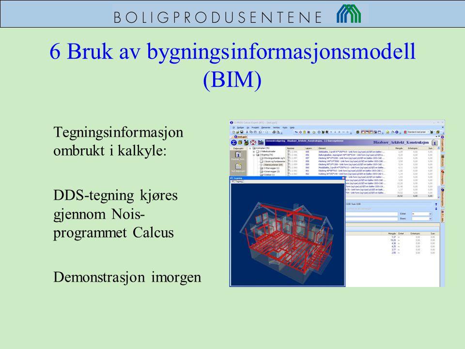 6 Bruk av bygningsinformasjonsmodell (BIM)