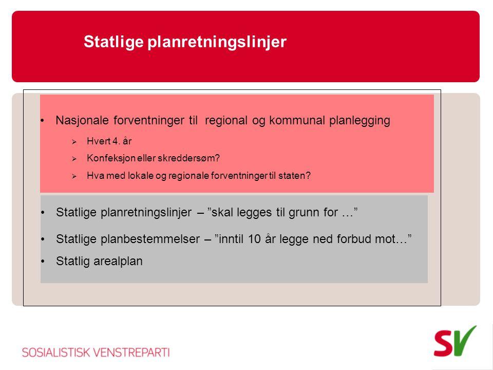 Statlige planretningslinjer