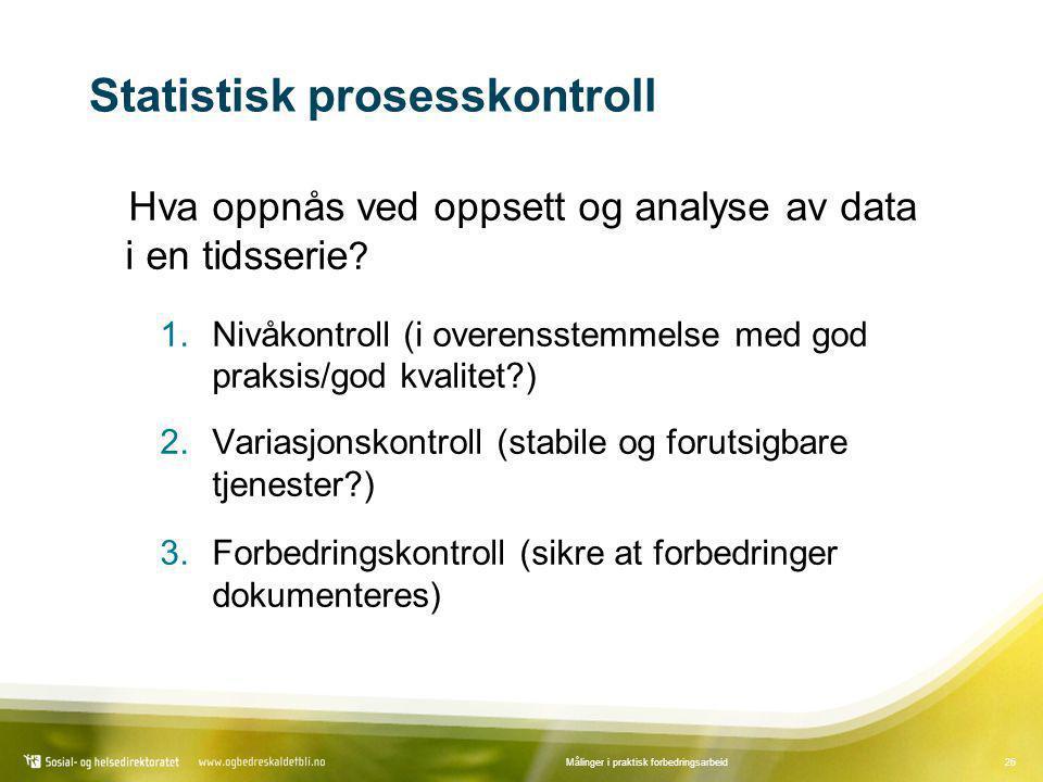 Statistisk prosesskontroll