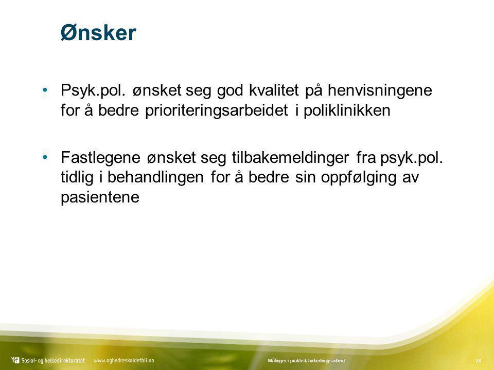 Ønsker Psyk.pol. ønsket seg god kvalitet på henvisningene for å bedre prioriteringsarbeidet i poliklinikken.